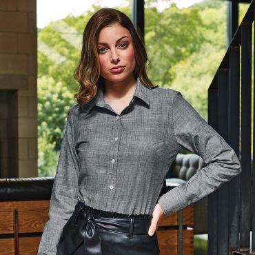 Camisa de manga larga mujer SLUB CHAMBRAY PREMIER