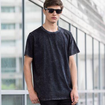 Camiseta efecto lavado unisex BAND T SKINNIFIT