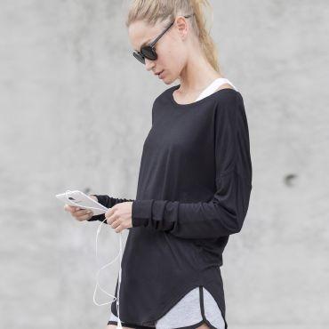 Camiseta deportiva de manga larga mujer SLONUGE SKINNIFIT