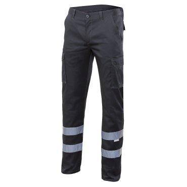 Pantalón de trabajo multibolsillos con reflectantes unisex 103014S VELILLA