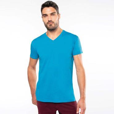 Camiseta orgánica cuello pico hombre K3028 Kariban