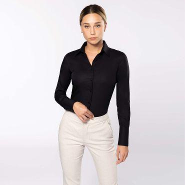 Camisa manga larga no-plancha mujer K538 Kariban