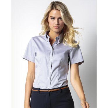 Blusa oxford de manga corta mujer OXFORD CORPORATIVA KK701 KUSTOM KIT