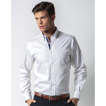 Camisa oxford de manga larga hombre OXFORD CONTRASTE KK190 KUSTOM KIT