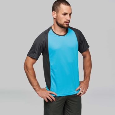 Camiseta deportiva bicolor hombre PA467 Proact