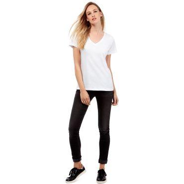 Camiseta cuello de pico orgánica mujer TW045 V WOMEN B&C