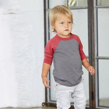 Camiseta beisbol manga 3/4 bebé 3200T DIANA BELLA + CANVAS
