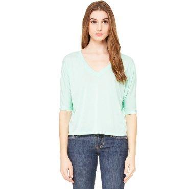 Camiseta crop mujer 8825 ANGELICA BELLA + CANVAS