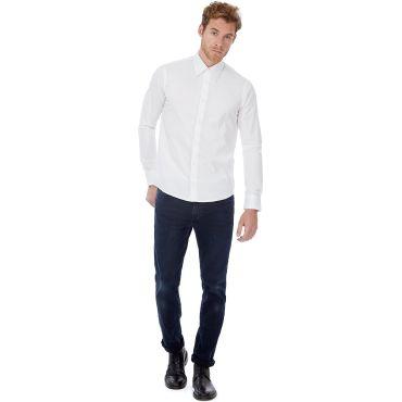 Camisa de manga larga strech hombre LONDON MEN B&C