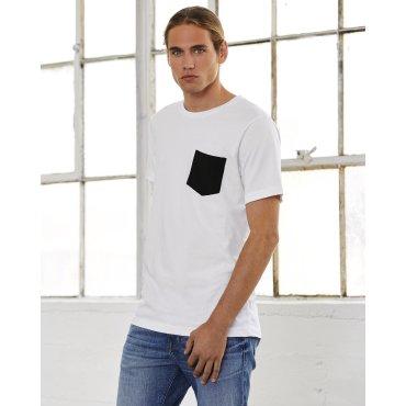 Camiseta con bolsillo hombre 3021 ALISON BELLA + CANVAS