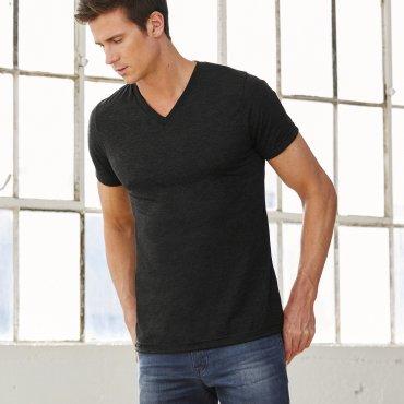 Camiseta cuello de pico Tri-Blend hombre 3415 BEL BELLA + CANVAS