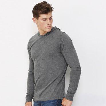 Camiseta con capucha manga larga unisex 3512 ANSLEY BELLA + CANVAS