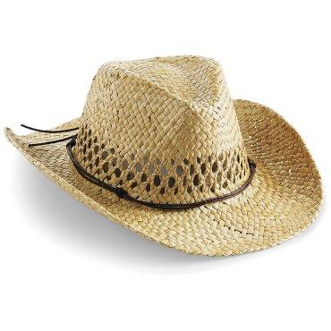 Sombrero cowboy de paja unisex COWBOY B735 BEECHFIELD