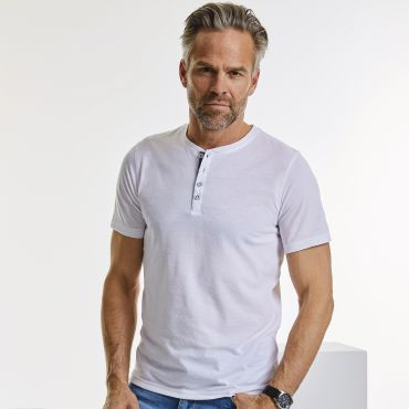 Camiseta cuello panadero hombre R-168M-0 RUSSELL