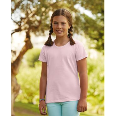 Camiseta niña 61-017-0 GIRLS SOFSPUN® T FRUIT OF THE LOOM
