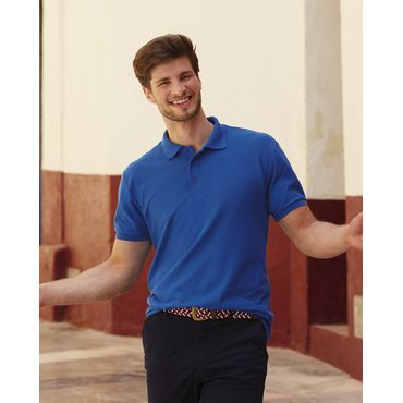 Polo piqué hombre 63-204-0 HEAVYWEIGHT 65/35 FRUIT OF THE LOOM