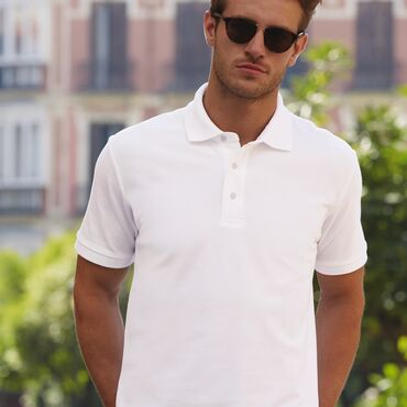 Polo piqué hombre 63-000-0 HEAVY FRUIT OF THE LOOM