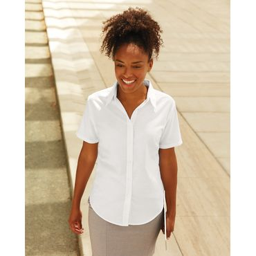 Camisa oxford manga corta mujer 65-000-0 FRUIT OF THE LOOM