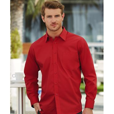 Camisa manga larga con bolsillo hombre 65-118-0 FRUIT OF THE LOOM