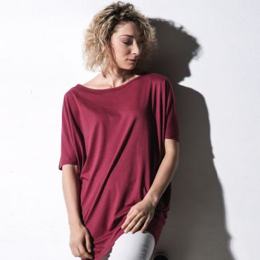 Camiseta extra larga orgánica holgada mujer CHLOÉ NAKEDSHIRT
