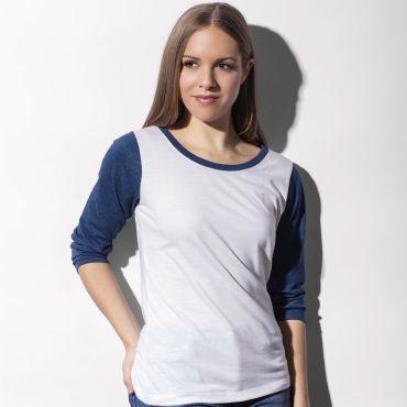 Camiseta beisbol manga larga mujer JESSICA NAKEDSHIRT