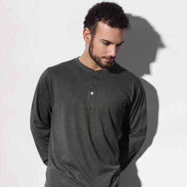 Camiseta manga larga y cuello panadero hombre ADEN NAKEDSHIRT