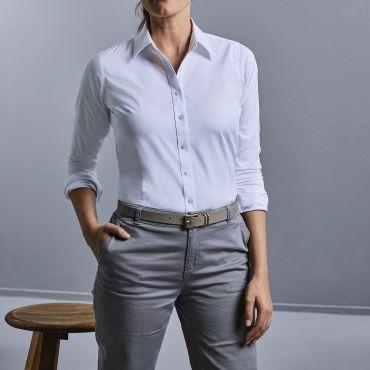 Camisa de manga larga Coolmax® mujer R-972F-0 RUSSELL COLLECTION