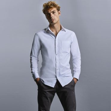 Camisa de manga larga Coolmax® hombre R-972M-0 RUSSELL COLLECTION