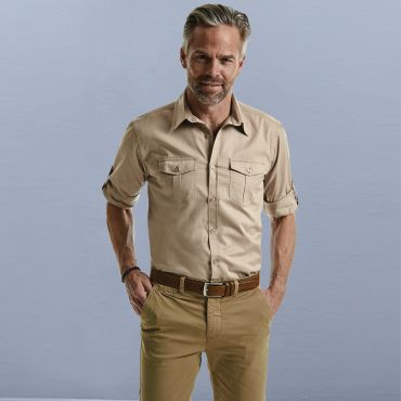 Camisa de manga larga safari hombre R-918M-0 RUSSELL COLLECTION