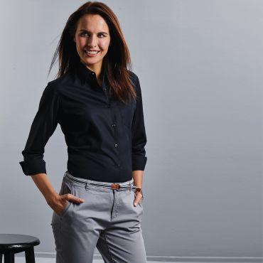 Blusa de manga larga con bolsillo mujer R-936F-0 RUSSELL COLLECTION