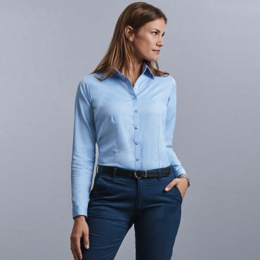Blusa de manga larga mujer R-962F-0 RUSSELL COLLECTION