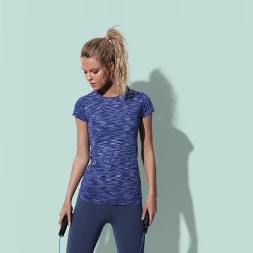 Camiseta deportiva jaspeada mujer ST8900 SEAMLESS RAGLAN STEDMAN