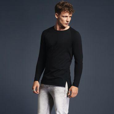 Camiseta extralarga manga larga hombre 5628 LEAM ANVIL