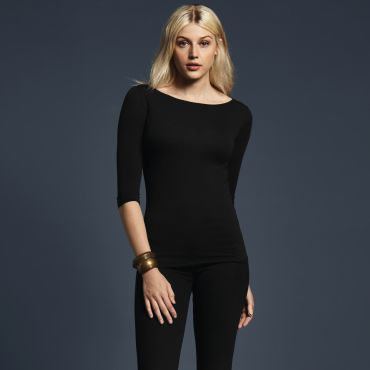 Camiseta mangas 3/4 básica mujer 2455L ANVIL