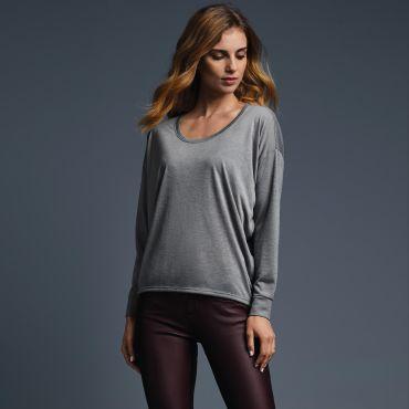 Camiseta manga larga básica mujer 34PVL ANVIL