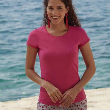 Camiseta básica mujer 61-420-0 ORIGINAL LADY-FIT FRUIT OF THE LOOM