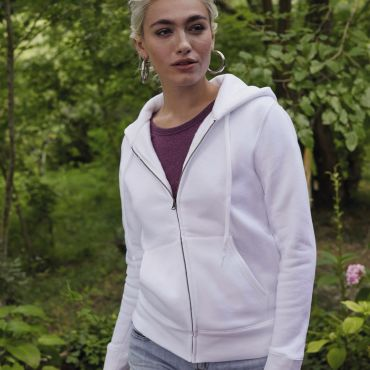 Sudadera con capucha y cremallera mujer 62-118-0 LADY-FIT FRUIT OF THE LOOM