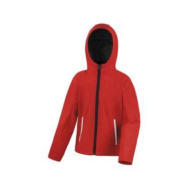 Chaqueta softshell con capucha niño R224J/Y TX RESULT CORE