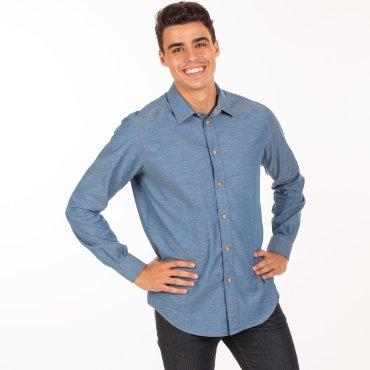Camisa manga larga slim fit hombre FLAVIO UNIFORMES GARY'S