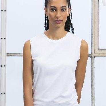 Camiseta orgánica holgada tirantes mujer sin mangas orgánica M82 MANTIS