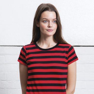 Camiseta a rayas mujer de rayas M110S MANTIS