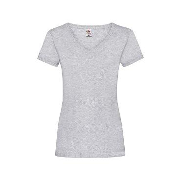 Camiseta cuello de pico mujer 61-398-0 VALUEWEIGHT FRUIT OF THE LOOM
