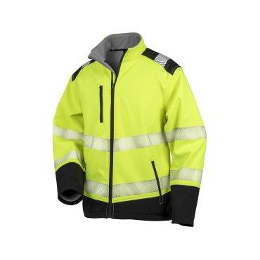 Chaqueta softshell de alta visibilidad hombre R476X PRINTABLE RESULT SAFE GUARD