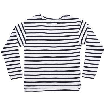 Camiseta orgánica manga larga de rayas niño HM84/MK84 BRETON MANTIS KIDS