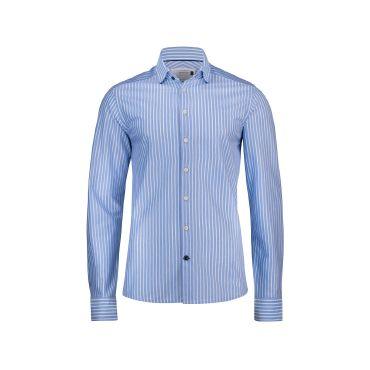 Camisa de rayas de manga larga hombre INDIGO BOW 34 SLIM FIT HARVEST & FROST