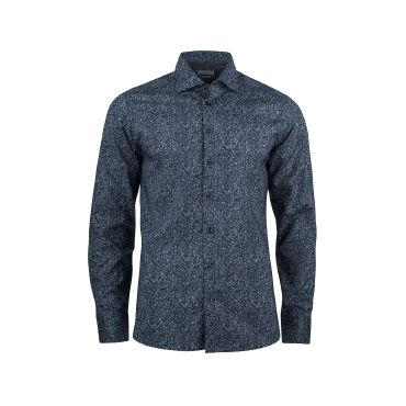 Camisa estampada de manga larga Easycare hombre INDIGO BOW 37 REGULAR HARVEST & FROST