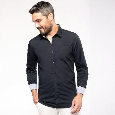 Camisa manga larga popelina hombre K517 Kariban