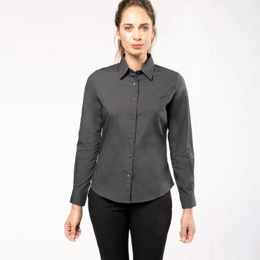 Camisa manga larga popelina mujer K542 Kariban