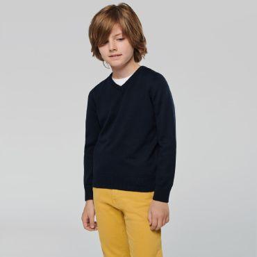 Jersey cuello pico niño K9109 Kariban