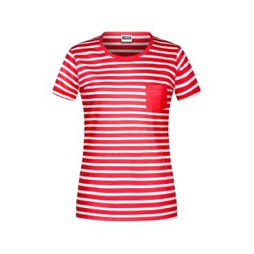Camiseta de rayas orgánica mujer JN8027 James Nicholson